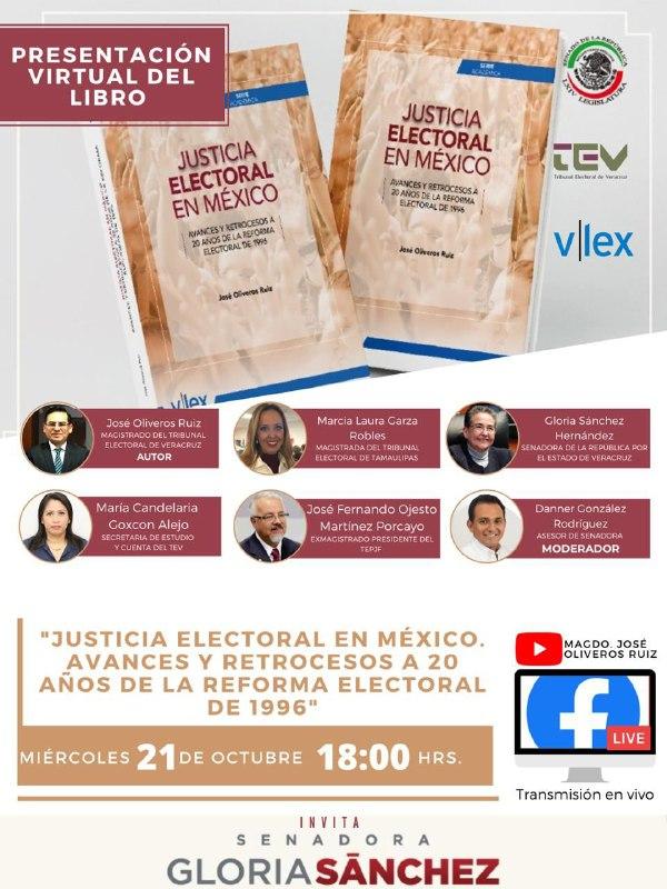 """""""Justicia Electoral en México. Avances y retrocesos a 20 años de la reforma electoral de 1996"""""""